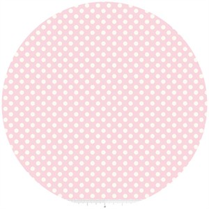 Riley Blake, Le Creme, Small Dot, Baby Pink