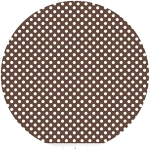 Riley Blake, Le Creme, Small Dot, Brown