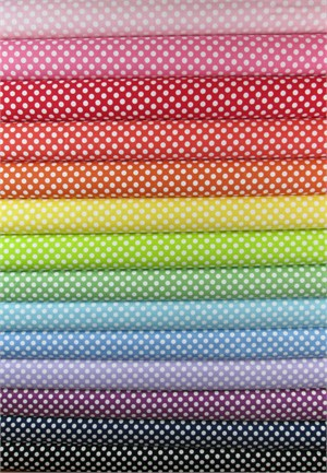 Riley Blake, Small Dots in FAT QUARTERS 14 Total