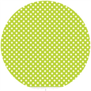 Riley Blake, Le Creme, Small Dot, Lime