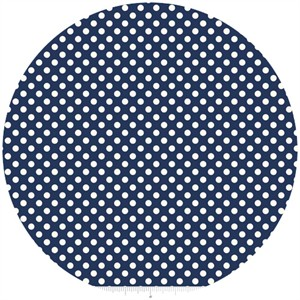 Riley Blake, Le Creme, Small Dot, Navy