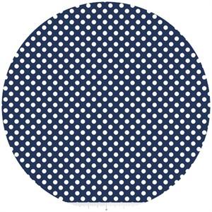 Riley Blake, Le Creme, Small Dot, Navy