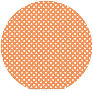 Riley Blake, Le Creme, Small Dot, Orange