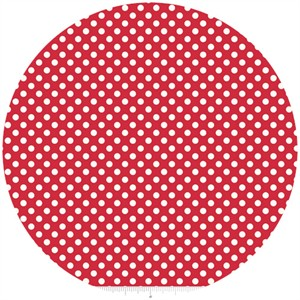 Riley Blake, Le Creme, Small Dot, Red