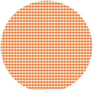 Riley Blake, Small Gingham, Orange