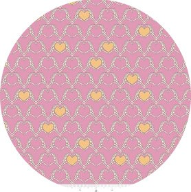 Riley Blake, Zombie Love, Heart Pink