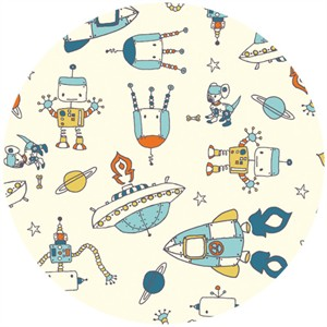 Robotic by Rebeka Ginda for Birch Organic Fabrics