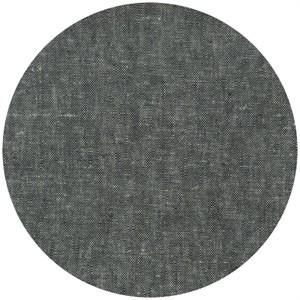 Robert Kaufman, Brussels Washer, Yarn Dyed, Linen/Rayon Blend, Black