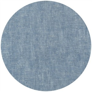 Robert Kaufman, Brussels Washer, Yarn Dyed, Linen/Rayon Blend, Chambray