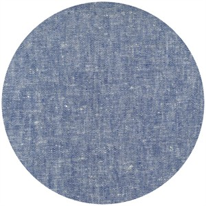 Robert Kaufman, Brussels Washer, Yarn Dyed, Linen/Rayon Blend, Denim