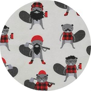 Robert Kaufman, Burly Beavers, FLANNEL, Burly Beavers Iron