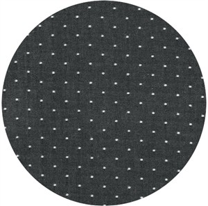 Robert Kaufman, Cotton Chambray Dots, Black