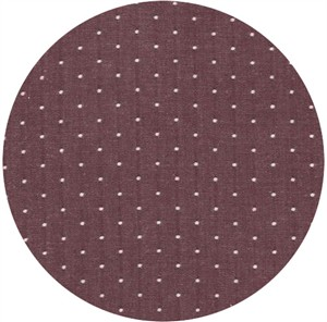 Robert Kaufman, Cotton Chambray Dots, Burgundy