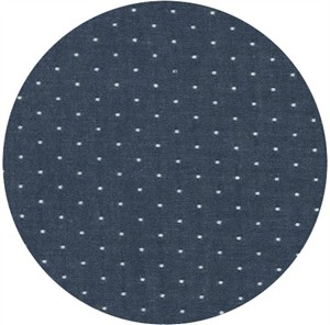 Robert Kaufman, Cotton Chambray Dots, Indigo