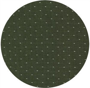 Robert Kaufman, Cotton Chambray Dots, Olive