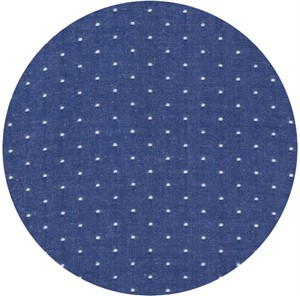 Robert Kaufman, Cotton Chambray Dots, Royal