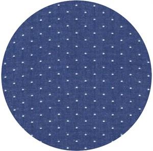 Robert Kaufman, Cotton Chambray Dots, Royal