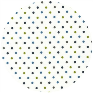 Robert Kaufman, Cozy Cotton FLANNEL, Dots Marine