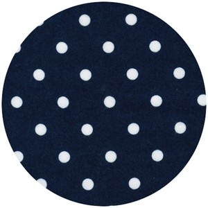 Robert Kaufman, Cozy Cotton FLANNEL, Medium Dots Navy
