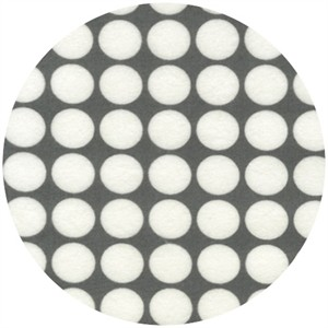 Robert Kaufman, Cozy Cotton FLANNEL, Spot Dot Grey