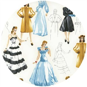 Robert Kaufman, Glamour Girls, Fashion Plates Multi