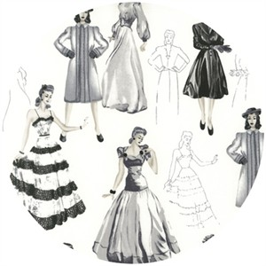 Robert Kaufman, Glamour Girls, Fashion Plates Vintage