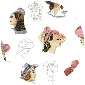 Robert Kaufman, Glamour Girls, Millinery Girls Blush