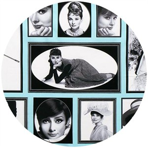 "Robert Kaufman, Hollywood Icons, Audrey Hepburn Tiffany (24"" Panel)"