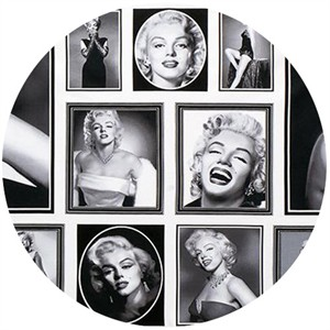 "Robert Kaufman, Hollywood Icons, Marilyn Monroe White (24"" Panel)"