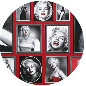 "Robert Kaufman, Hollywood Icons, Marilyn Monroe Red (24"" Panel)"