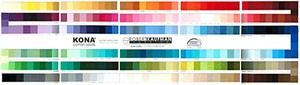 Robert Kaufman Kona Cotton Solids, Color Card