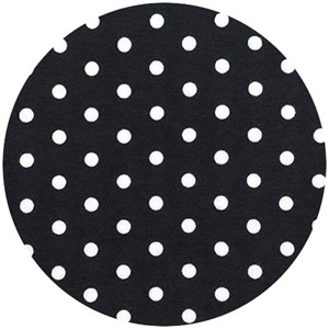 Robert Kaufman, Laguna Cotton Jersey, KNIT, Polka Dot Black