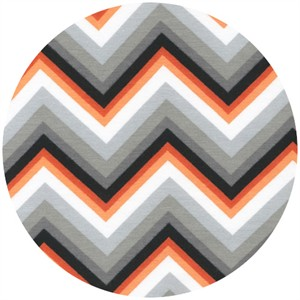 Robert Kaufman, Laguna Cotton Jersey Prints, Knit, Gradiant Zig Zag Tangerine