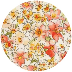 Robert Kaufman, London Calling 4, COTTON LAWN, Chelsea Bouquet Peach