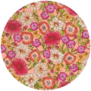 Robert Kaufman, London Calling 4, COTTON LAWN, London Garden Peach