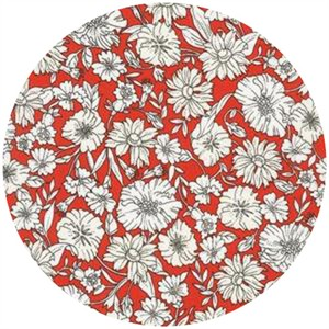 Robert Kaufman, London Calling 4, COTTON LAWN, London Garden Poppy