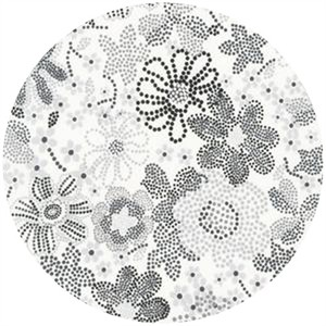 Robert Kaufman, London Calling 4, COTTON LAWN, Pretty Pointillism Grey