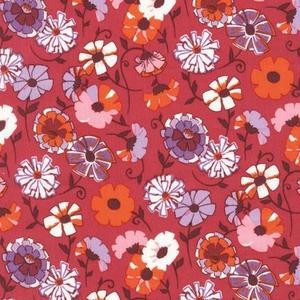 Robert Kaufman, London Calling 4, COTTON LAWN, Wildflower Field Pink