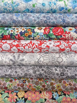 Robert Kaufman, London Calling 4, COTTON LAWN, Libby in FAT QUARTERS 8 Total (PRE-CUT)