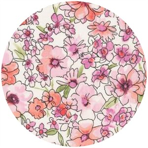 Robert Kaufman, London Calling 4, COTTON LAWN, Chelsea Bouquet Pink