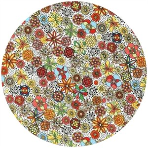 Robert Kaufman, London Calling 4, COTTON LAWN, Garden Sketch Multi