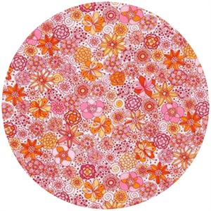 Robert Kaufman, London Calling 4, COTTON LAWN, Garden Sketch Peach