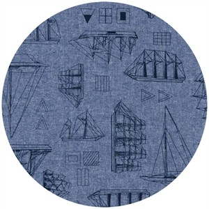 Robert Kaufman, Nautique Chambray, Ships Indigo