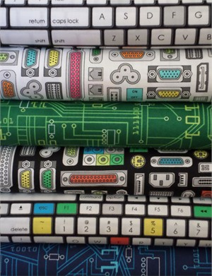 Robert Kaufman, Plug and Play, Entire Collection in FAT QUARTERS 6 Total