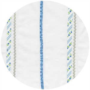 Robert Kaufman, Rick Rack and Ribbons, Deluxe Stripes Blue