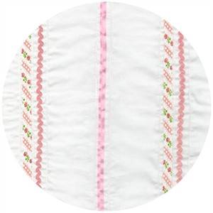 Robert Kaufman, Rick Rack and Ribbons, Deluxe Stripes Pink
