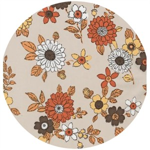 Robert Kaufman, Lennox Gardens, COTTON LAWN, Small Blooms Tan