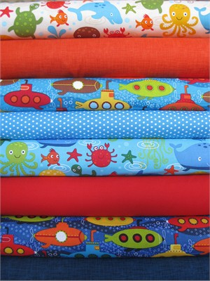 Robert Kaufman, Splish Splash in FAT QUARTERS 8 Total
