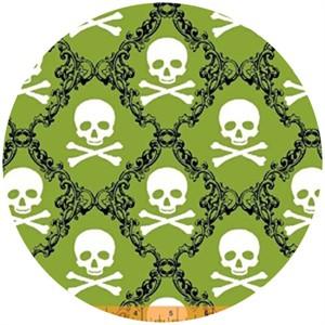 Rosemarie Lavin, Raven, Skull Damask Green