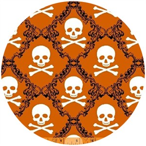 Rosemarie Lavin, Raven, Skull Damask Orange